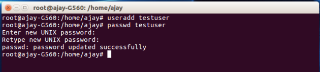 Linux Command to add New User