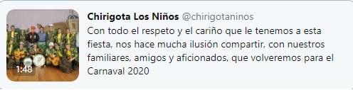 La Chirigota de los Niños de Sevilla vuelve al COAC 2020