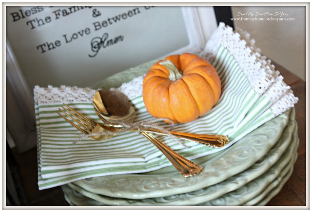 Farmhouse Style- Fall Kitchen-From My Front Porch To Yours-Gold Flatware
