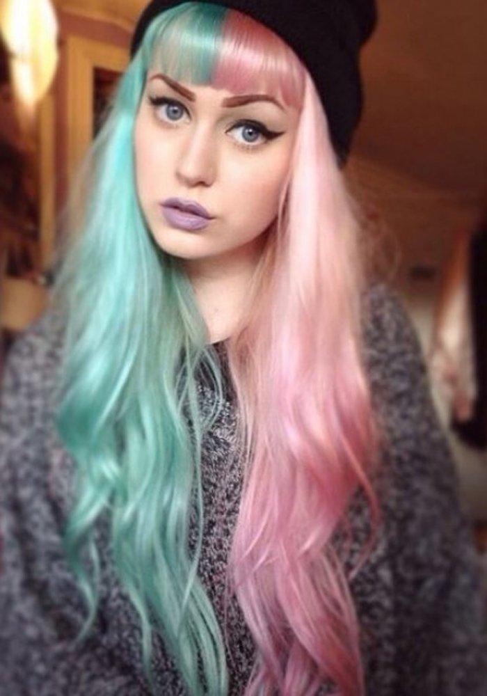 Two Coloured Hairstyles Two Coloured Hairstyles Elizabeth Olsen