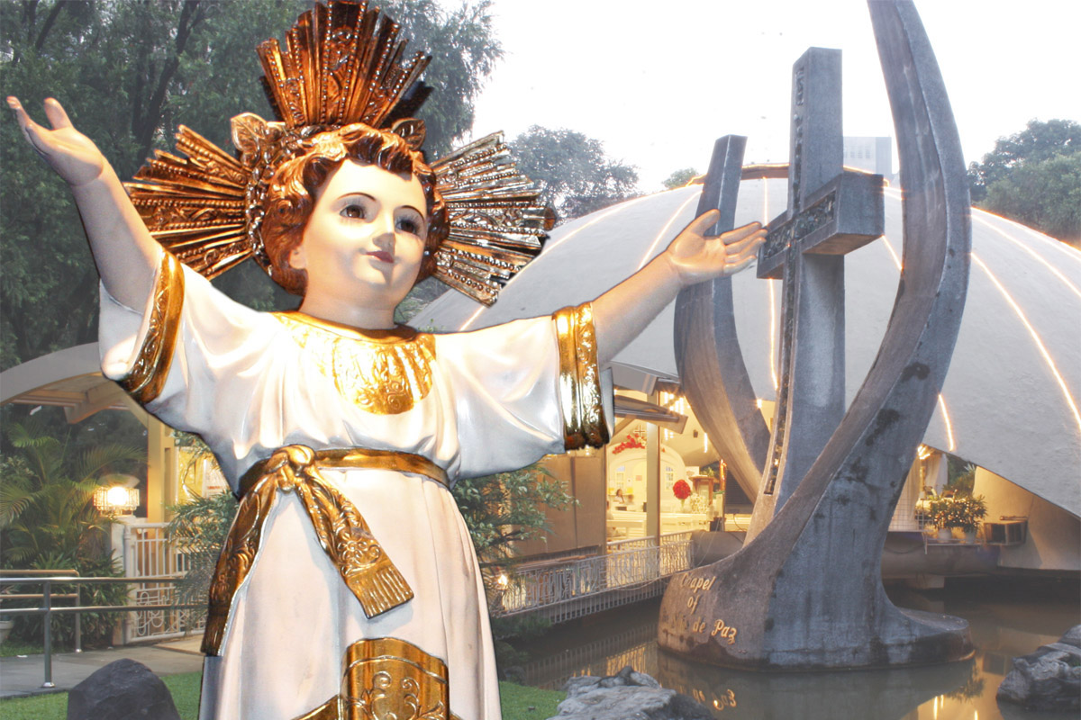 Sto. Niño statue at Sto. Niño de Paz Greenbelt Chapel Ayala Center, Makati City 1228 Metro Manila, Philippines. Photo by Sto. Niño de Paz Greenbelt Chapel.