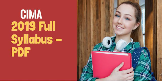 CIMA new 2019 Full Syllabus PDF online