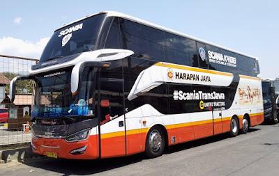 Foto Bus Harapan Jaya Tingkat 573