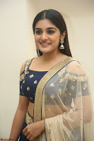 Niveda Thomas in Lovely Blue Cold Shoulder Ghagra Choli Transparent Chunni ~  Exclusive Celebrities Galleries 010.JPG