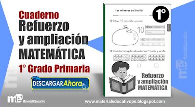 Cuaderno Refuerzo y Ampliación  Matemática 1° Grado Primaria