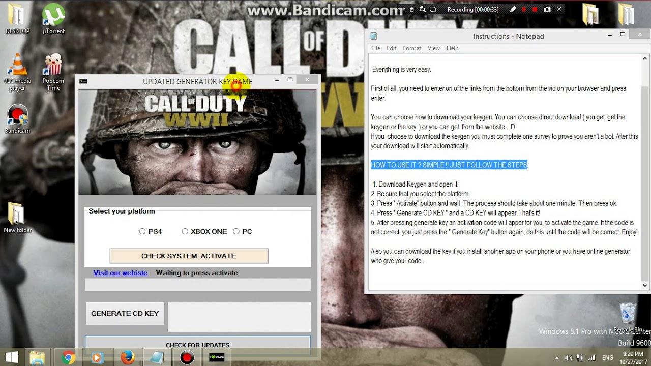 Call of duty serial key
