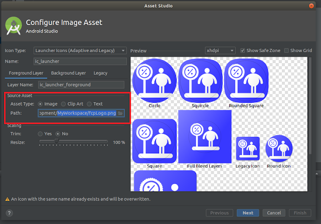 Android Studio - Image Asset