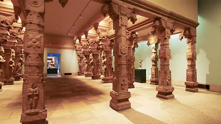 ఫిలడెల్ఫియా మ్యూజియం ఆఫ్ ఆర్ట్లోని దక్షిణ భారత ఆలయ మందిరం