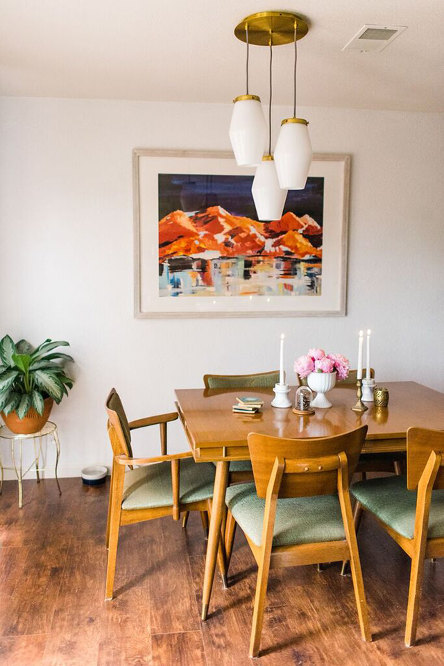 mid century modern dining room table.  Client Reveal Mid Century Modern Dining Room Michaela Noelle Designs