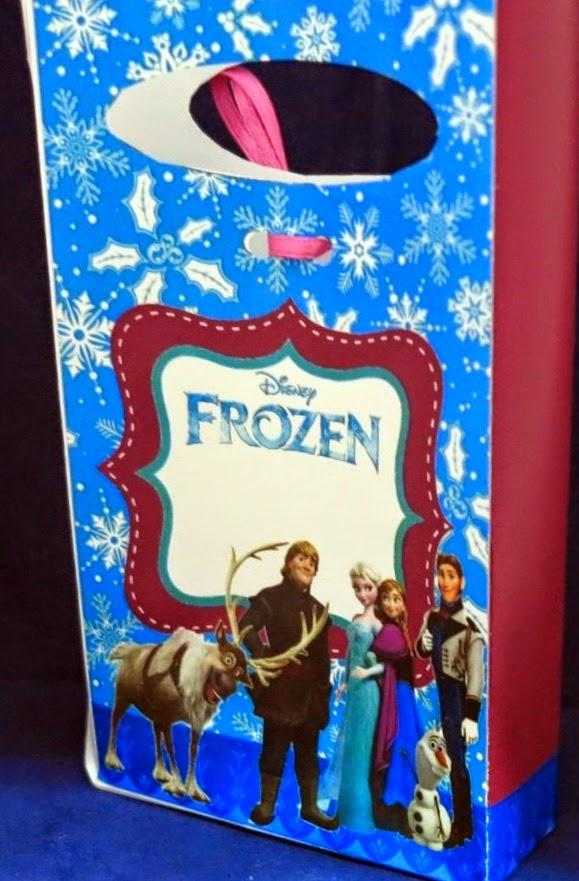 Frozen: Bolsas de Papel para Imprimir Gratis.