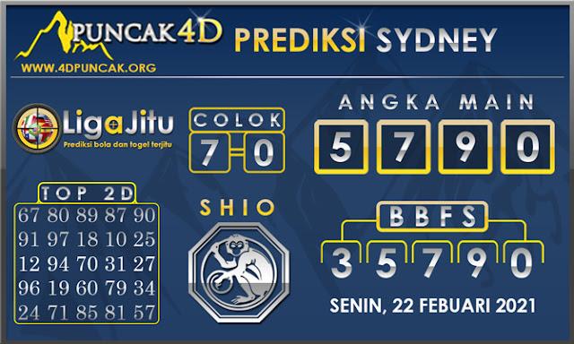 PREDIKSI TOGEL SYDNEY PUNCAK4D 22 FEBUARI 2021