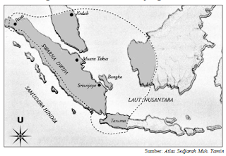 Cakupan wilayah kerajaan Sriwijaya