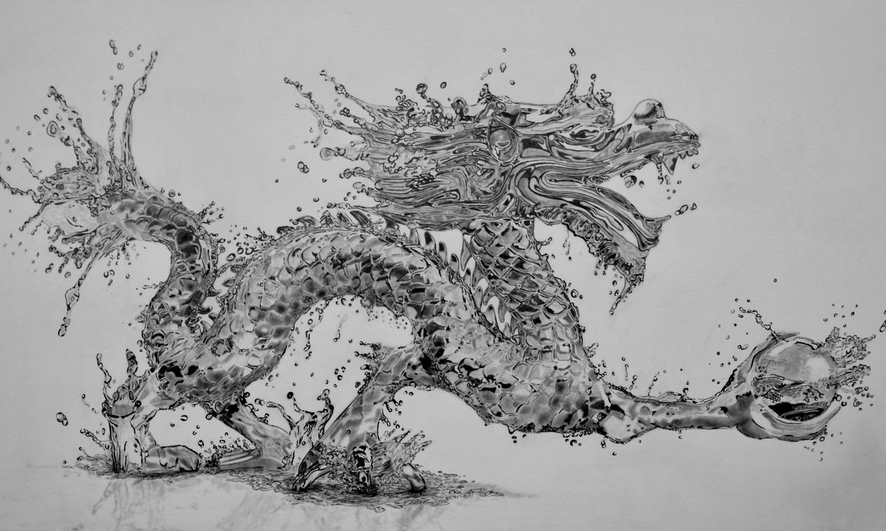 07-Water-Dragon-Paul-Shanghai-Hyper-Realistic-Water-Pencil-Drawings-www-designstack-co