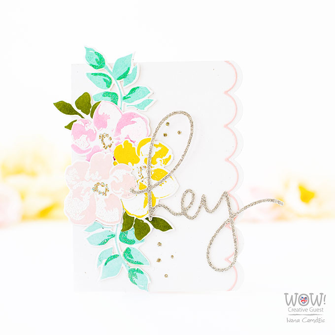 Making Your Own Glitter Cardstock - Wednesdays with Wow!