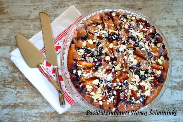 RECEPTAS: Nektarinų pyragas su vanilinių užpilu