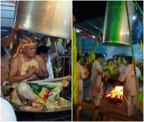 Viral Video of Magician Who accidentally killed himself during human steaming ritual