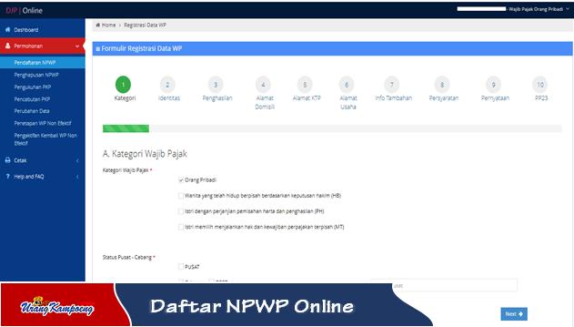 cara pendaftaran NPWP Online tanpa ribet