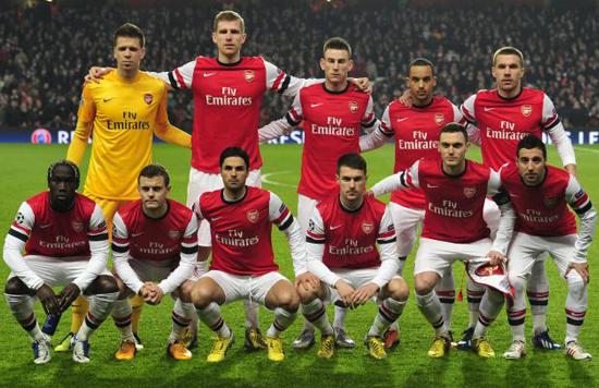 6 équipes de foot à Londres, 6 raisons d'aimer le... |Arsenal Gunners 2013