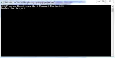 program mengitung upah , dalam bahasa C , C++