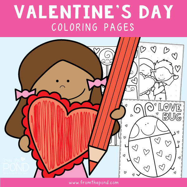 From The Pond: Valentine's Day Coloring Pages