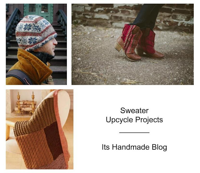 Over 100 ideas for a refashion, upcycle and recycle using last year's sweaters transforming them into these fabulous DIYs
