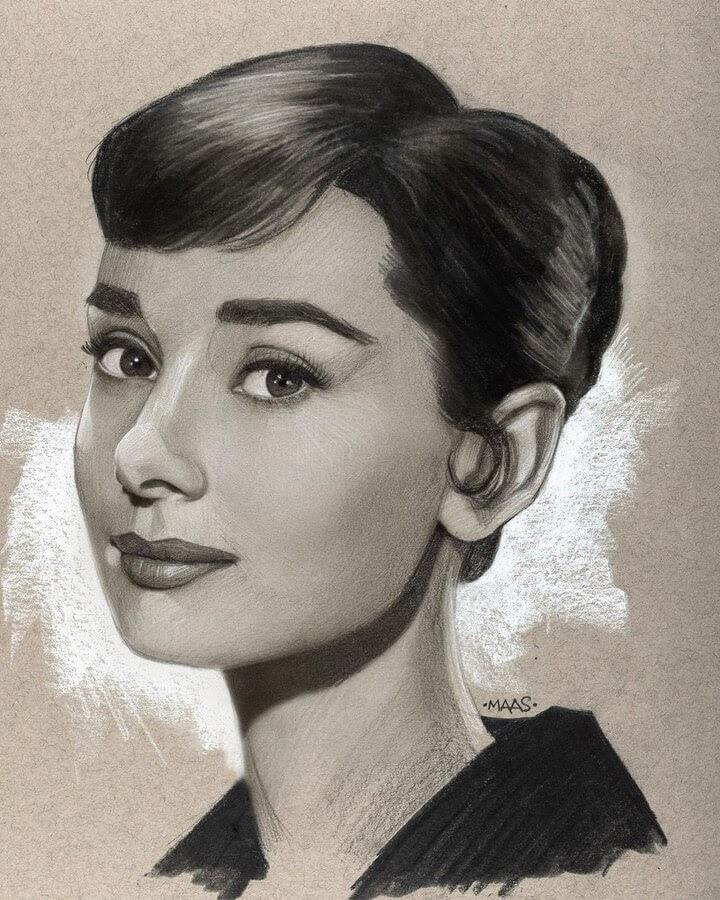02-Audrey-Hepburn-Justin-Maas-www-designstack-co