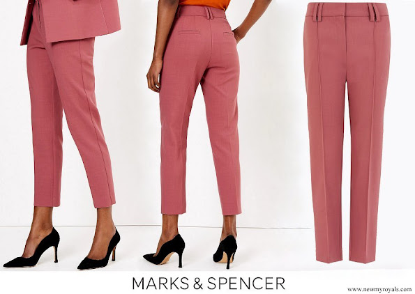 Kate Middleton wore Marks and Spencer Wool Blend Slim Leg Cropped Trousers