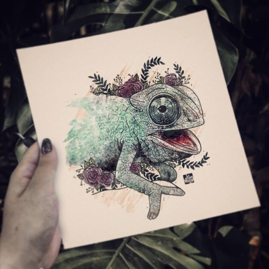 03-Chameleon-elvenwings-Animal-Portraits-www-designstack-co