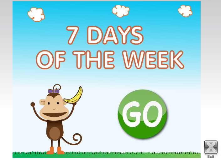 Learning With A Smile 教學資源 Days Of The Week Interactive