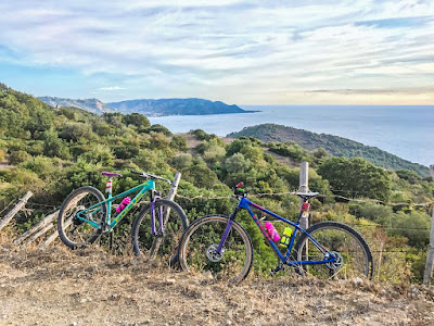 cycling cilento beaches campania region southern italy full carbon road bike rental in trentova bay agropoli