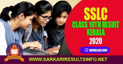 Kerala SSLC Class 10th Result 2020