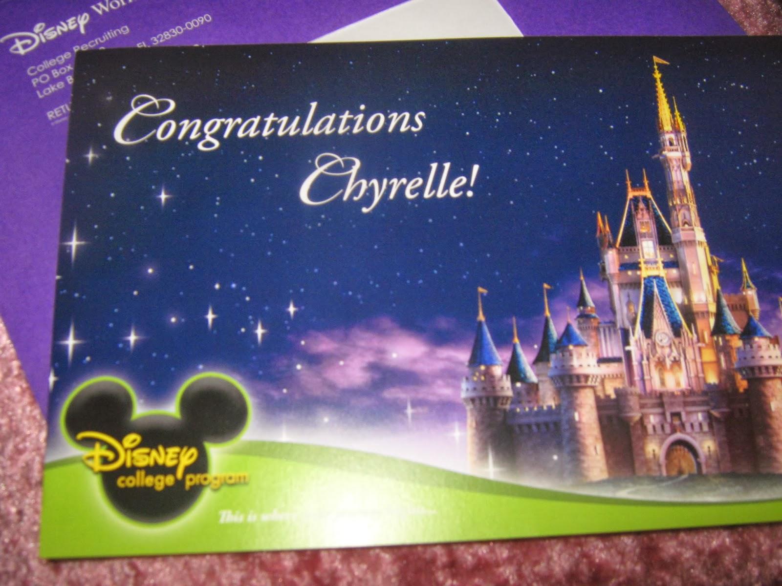 Disney College Program Postcard