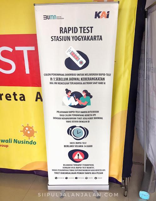 Rapid test di Stasiun Tugu Yogyakarta