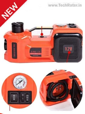 Automatic Electric Car Jack with Air Compressor 12V