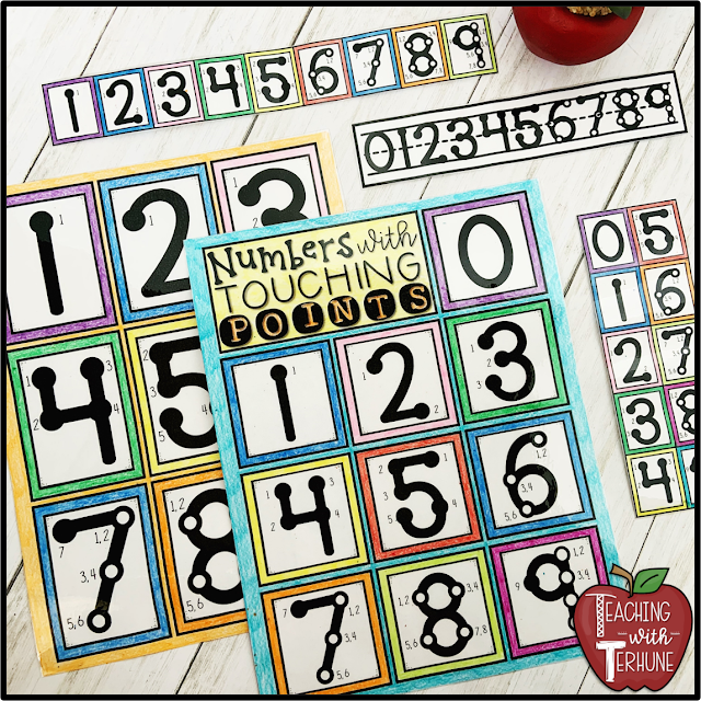 Numbers with Touch Points Handouts and Printables