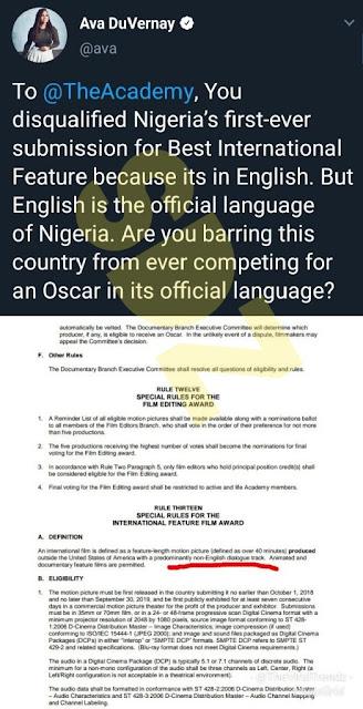 Oscar disqualifies Genevieve Nnaji's Lion Heart