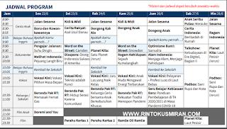 Panduan dan Jadwal Belajar Dari Rumah  di TVRI Minggu Ke Sebelas 22-28 Juni 2020