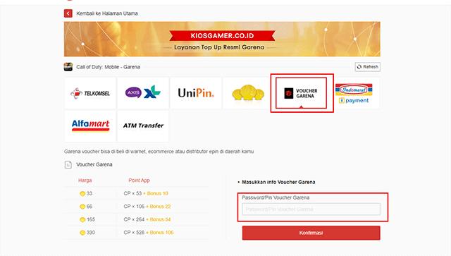 Cara Membeli Garena Shell di UniPin