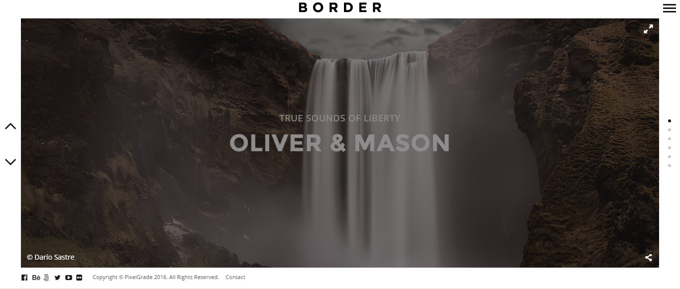 Border  Premium WordPress Photography theme