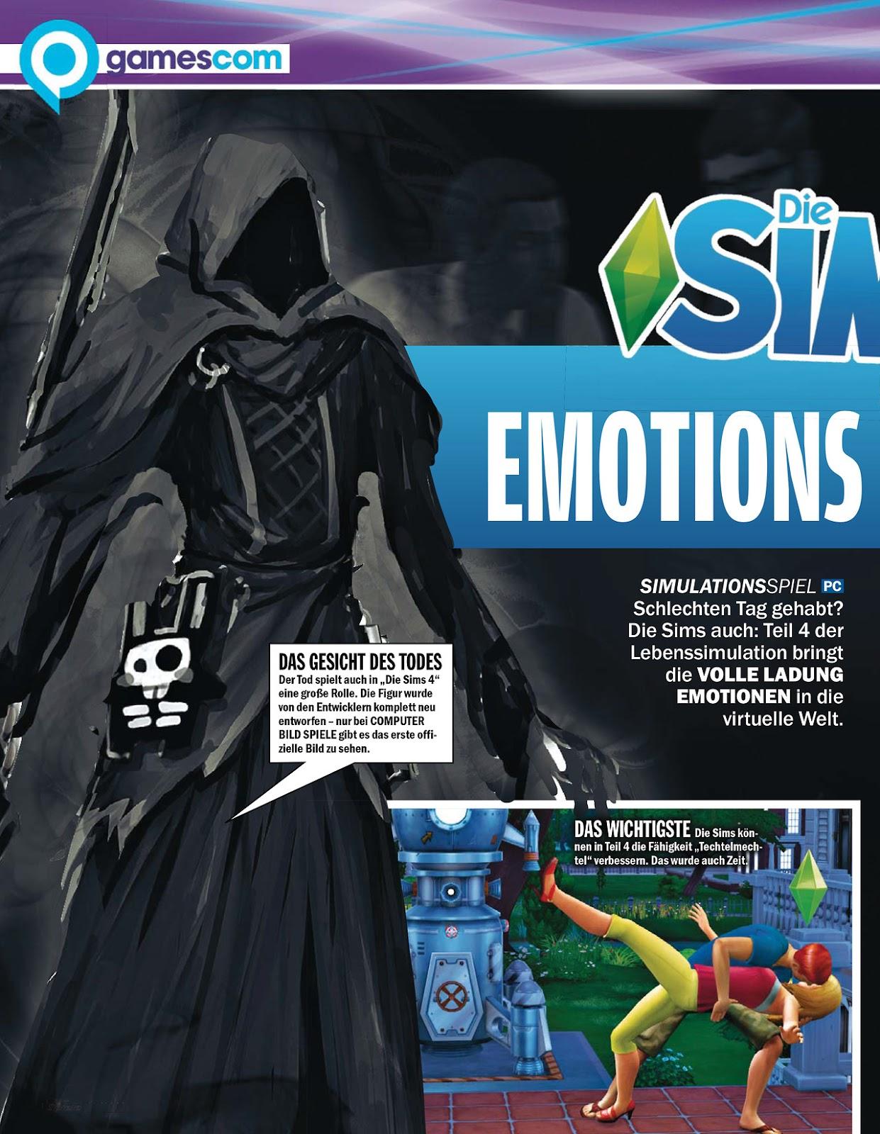 Nuevos Conceptos de Arte de Los Sims 4 Revista Alemana