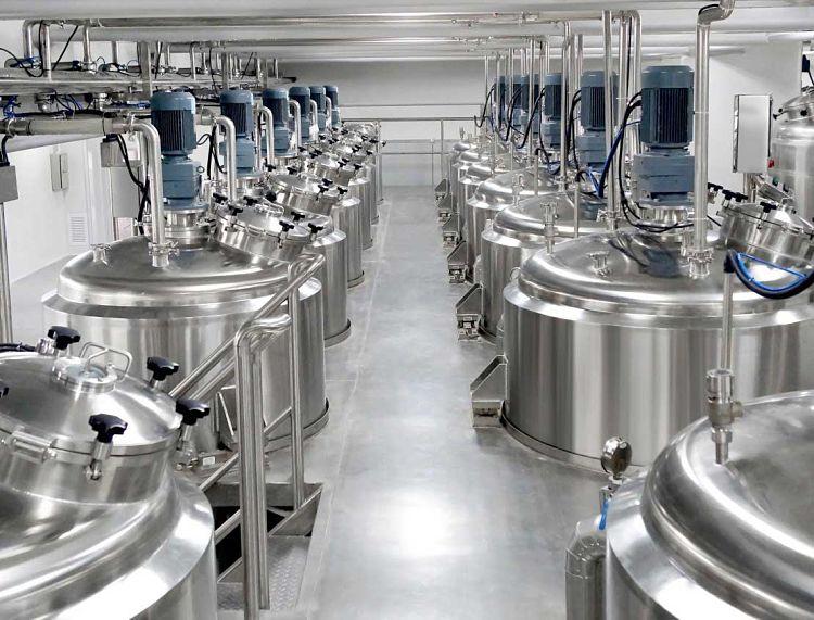 reactores de fabricación de jabón líquido