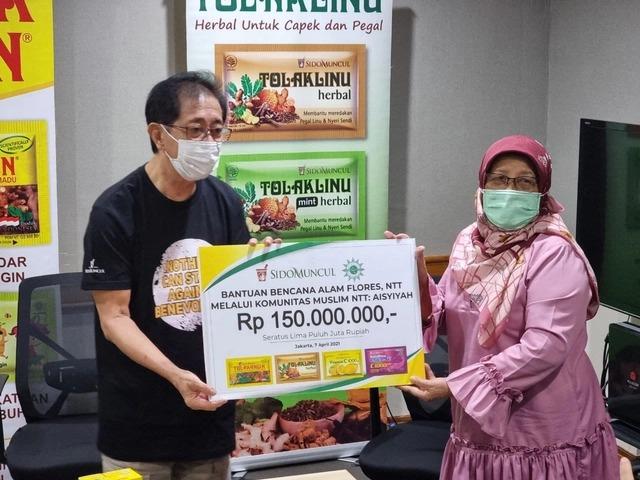 Sido Muncul Berikan Bantuan 150 Juta Untuk Korban Banjir Bandang NTT Lewat Aisyiyah