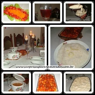 jantar especial 3 anos de namoro
