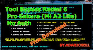 Remove Mi Account Redmi 6 Pro Sakura M2 lite Tanpa Akun Auth