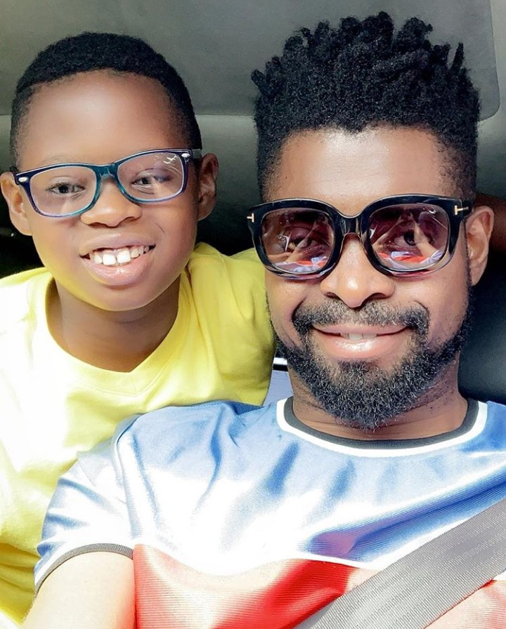 See Cute Selfie Of Basketmouth And His Son