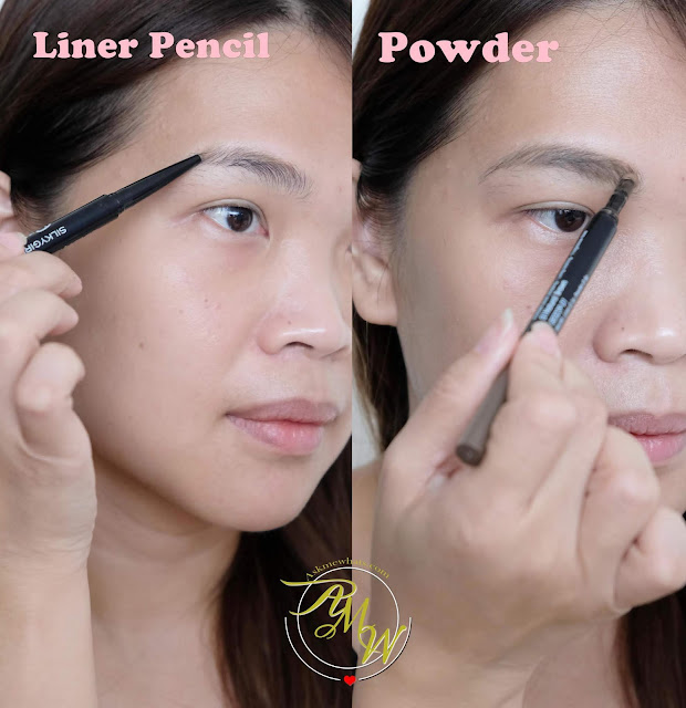 a photo of SilkyGirl Perfect Brow Liner & Powder Review by Nikki Tiu of askmewhats.com