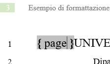 Controllare i numeri di pagina usando i campi
