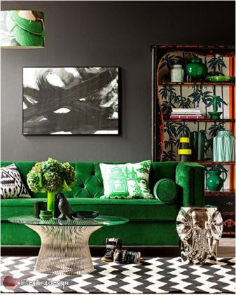 Green Color In Details Of Interior Designs 20