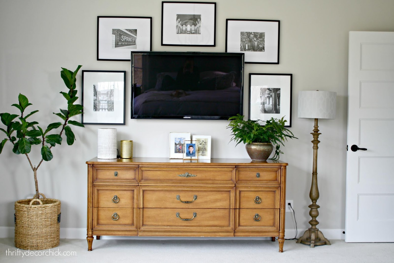 how to decorate around the TV