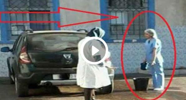 فضيحة مهنية ....فيسبوكيون ينتقدون استغلال طبيبة لممرضة في غسل سيارتها... هل انت ايضا تنتقد هدا الاستغلال